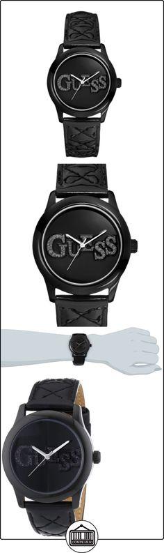 Guess W70040L2 - Reloj analógico de cuarzo para mujer con correa de piel, color negro  ✿ Relojes para mujer - (Gama media/alta) ✿