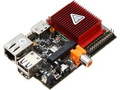 I want one! HummingBoard: Will fit in a Raspberry Pi enclosure, runs Linux or Android, packs a bigger punch. Caution: While the pins are similar to Raspberry Pi, installing Pi hardware takes extra effort (not a direct replacement).