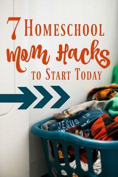 7 Homeschool Mom Hacks to Start Today Written by Krista Smith. As a homeschool mom, life can get awa How To Start Homeschooling, Online Homeschooling, Catholic Homeschooling, Homeschool Curriculum, Homeschool Kindergarten, Preschool, Curriculum Mapping, Homeschool Supplies, Mom Hacks