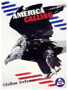 lester beall, eagle, stripes, americana, war