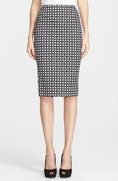 Alexander McQueen Poplin Pencil Skirt available at #Nordstrom