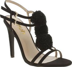 Schuh Black Totes Womens High Heels These black faux-suede heels from schuh are Totes amaze. Arriving with a strappy man-made upper, super cute pom-pom embellishment is attached to the T-bar, with gold buckle fastening straps to complim http://www.comparestoreprices.co.uk/january-2017-8/schuh-black-totes-womens-high-heels.asp