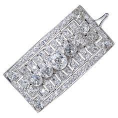 Art Deco Diamond Barrette