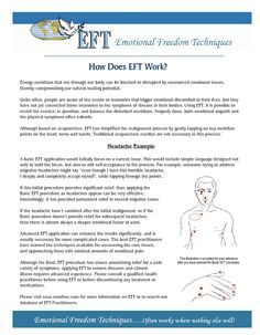 What is EFT, the Emotional Freedom Technique?