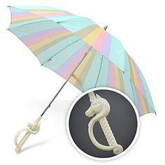 Unicorn Umbrella - You know what happens if you open a unicorn umbrella inside? It rains cupcakes. True story.
