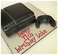 Play station 4 birthday cake