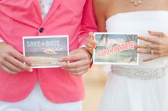Pink save the date.