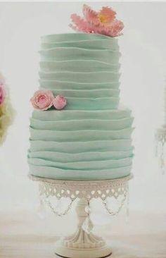 pink cake on aqua stand - Google Search