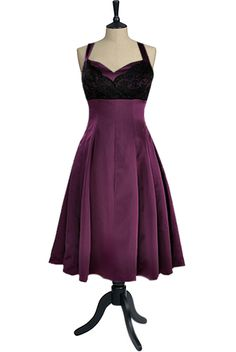 plum halterneck dress