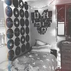 okay but why ruin perfectly good records to make it seem like your room was decorated by a hipster
