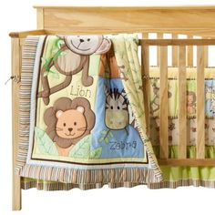 Summer Infant Monkey Jungle 4 Piece Bedding Set. Cute baby boy option