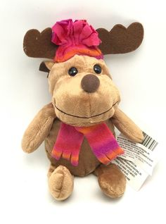Reindeer In Pink ... found at  http://keywebco.myshopify.com/products/reindeer-in-pink-hat-scarf-stuffed-animal-toy-christmas-house-plush-new?utm_campaign=social_autopilot&utm_source=pin&utm_medium=pin