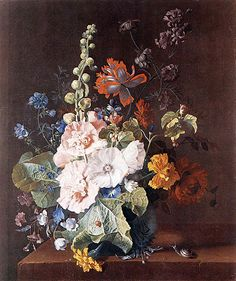 Rachel Ruysch (born in 1664 in Amsterdam, died 1750 Amsterdam) Dutch
