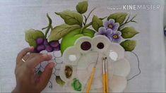 Pintura em tecido uvas.