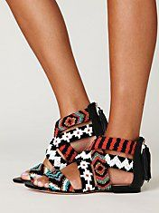 I love tribal designs! - you could wear the most dull/plain outfit & these shoes would smash it all down & make it amaziinggg :)