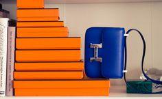 cobalt blue #bag :: Constance by #Hermes