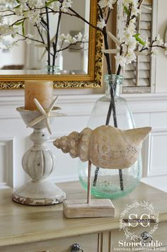 StoneGable: ELEMENTS OF SUMMER~ CHIC BEACH IN THE DINING ROOM