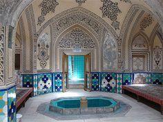 Persian bath in Kashan, Iran