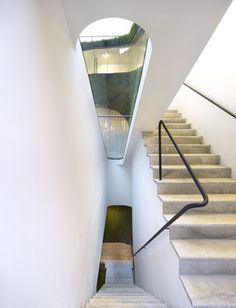 Ann Demeulemeester Shop in Seoul by Mass Studeis #stairs #white #modern