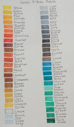 Colored Pencil Color Charts - WetCanvas