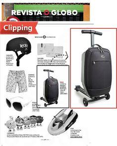 A mala  de bordo scooter aparece  como uma dica para quem quer facilidade de locomoção nos aeroportos.