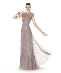 Pretty Grey Tank Top Floor Length Tulle Sheath Column Evening/Military Ball Dress Cpr0027