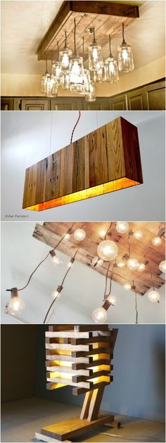 DIY Wood Working Projects: 10 Inventive Ideas of Wood Pallet Lamps