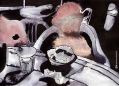 """""""Breakfast at sea"""" acrylic and ink on paper"""