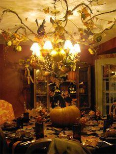 elegant halloween table decorations - Google Search