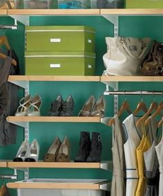 Tips to organize your closet. Spring is just around the corner....and it's a great time to go shopping in your closet!