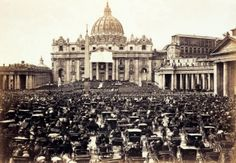 St. Peter's Square on Easter Day. Rome, c. 1865.