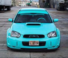 tiffany blue Subaru