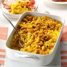 Noodle Pudding Recipe -Whenever I bring this creamy dish to gatherings, it always prompts recipe requests. The surprising sweetness comes from apricot nectar, and everyone enjoys the golden buttery topping. Veggie Casserole, Sweet Potato Casserole, Casserole Recipes, Pasta Recipes, Cooking Recipes, Meatless Recipes, Freezer Cooking, Healthy Recipes, Dinner Dishes