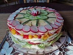 Party – Salattorte Party – salad cake (recipe with picture) of Paradiesabbel Party Salads, Snacks Für Party, Appetizers For Party, Appetizer Recipes, Shrimp Recipes, Cake Recipes With Pictures, Food Pictures, Salad Cake, Chef Party