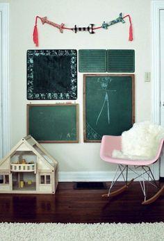 pizarra paredes infantiles 1 Paredes de pizarra para niños