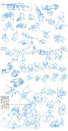 Anatomy - Hands by *Canadian-Rainwater on deviantART. How to draw hands. Hands…                                                                                                                                                                                 Más