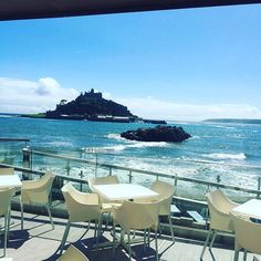 The Godolphin Arms, Marazion, Cornwall. Views of Saint Michaels Mount. Devon And Cornwall, Cornwall England, Yorkshire England, St Ives Cornwall, Yorkshire Dales, Holiday Places, Holiday Destinations, Places To Travel, Places To See