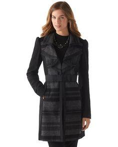 White House | Black Market Cascade Lapel Coat #whbm