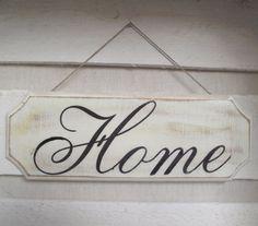 Tabliczka Home (proj. agagalery), do kupienia w DecoBazaar.com