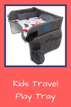Kenley Kids Travel Tray, Toddler Car Seat Lap Tray, x Inches (Red/Gray) Travel Tray, Toddler Car Seat, Mother Birthday Gifts, Lap Tray, Mother And Father, 1 Year Olds, Travel With Kids, Multifunctional, Cool Places To Visit