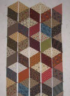 Resultado de imagem para tumbling blocks quilt pattern no y seams