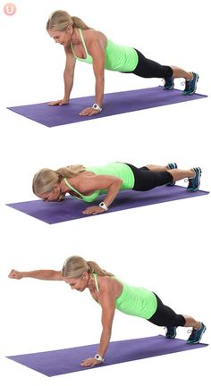 Use moves like the push-up punch to give you a great HIIT workout without putting strain on your knees.