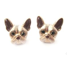 10pcs/lot 2015 New Arrival French Bulldog Puppy Face Stud Earrings Animal Jewelry for Dog Lovers  S-105