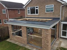fibreglass roofing - Google Search Conservatory Extension, Conservatory Roof, Roof Extension, Extension Ideas, Flat Roof Skylights, Walking On Glass, Kitchen Diner Extension, Roof Lantern, Fibreglass Roof