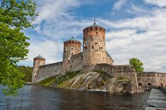 "Olavinlinna Castle, Finland - We went to an Opera here. ""Standing"" room only! Visit Helsinki, Finland Travel, Tromso, Travel Planner, Beautiful Buildings, City Streets, Archipelago, Best Cities, Great Places"