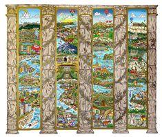 """A Tour of the Mediterranean Mural  49"""" x 40"""""""