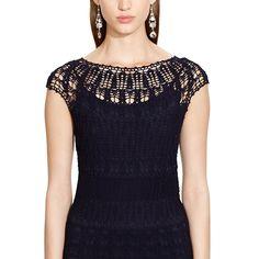 Outstanding #Crochet: Hand-Crocheted Cotton Dress from Ralph Lauren.