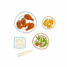 KyoChon Fried Chicken (교촌치킨) - ❖ Youtube:Tina's ❖ Instagram:@tinaaa071 Fruit Illustration, Doodle Inspiration, Coloured Pencils, Fried Chicken, Food Art, Doodles, Artsy, Cooking, Drawings