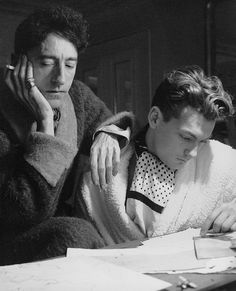 """Jean Cocteau and Jean Marais- Cecil Beaton """"Be daring, be different, be impractical, be anything that will assert integrity of purpose and imaginative vision against the play-it-safers, the creatures of the commonplace, the slaves of..."""