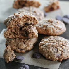 Gluten free almond butter, oatmeal and chocolate chip cookies. These are truly spectacular!